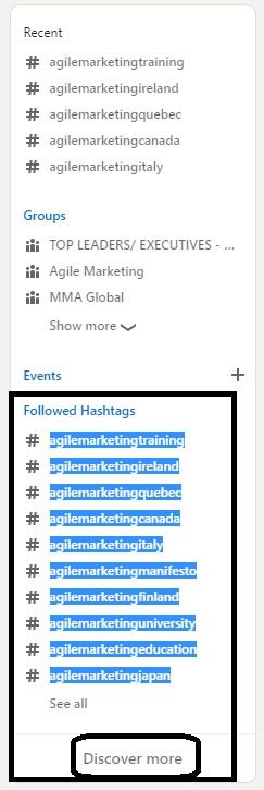 agile marketing hashtags